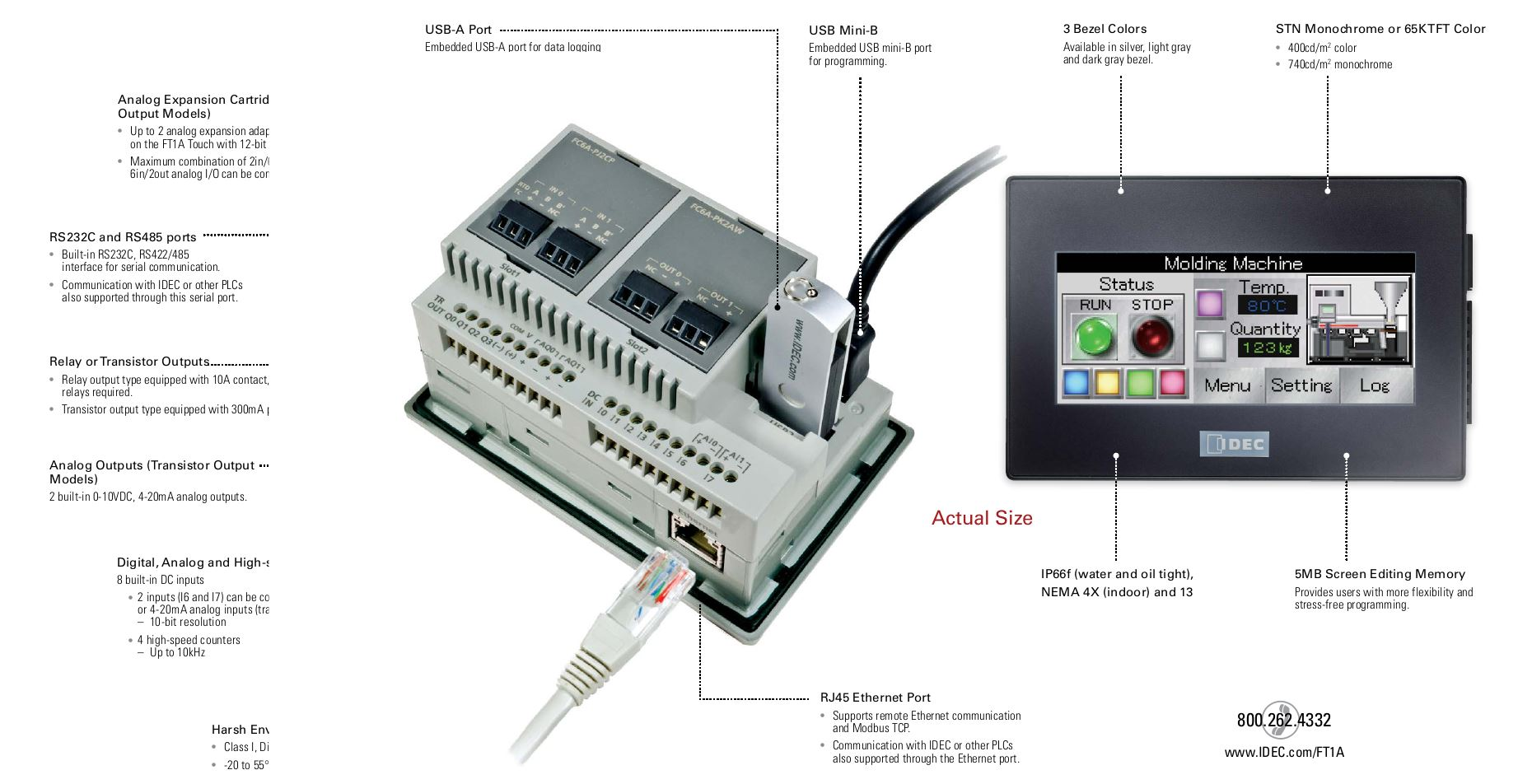 Idec Ft1a Smartaxis Touch The Innovative Hmi Plc In One Csl Online 8 Pin Relay Wiring Diagram Get Brochure
