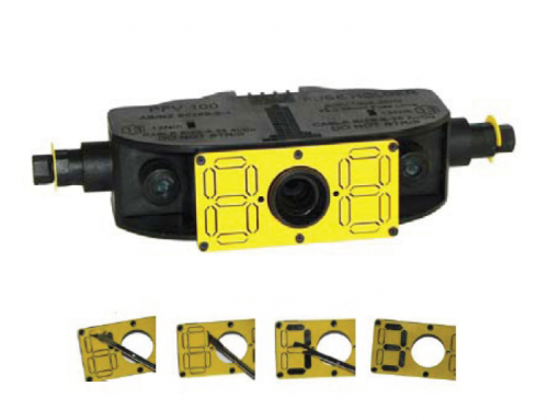 Sicame Australia's innovative 100A fuse holder featuring a highly visible identification plate